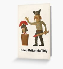 Keep Britannia Tidy Greeting Card