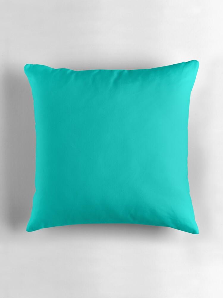 Beautiful Cushions Plain Bright Turquoise By Ozcushions