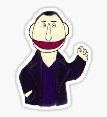 Ninth Doctor Muppet Style Sticker