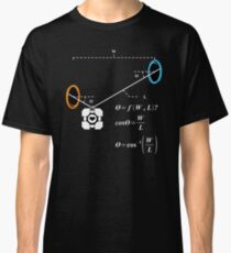 Newton's 1st Law of Motion with POrtals (White) Classic T-Shirt