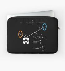 Newton's 1st Law of Motion with POrtals (White) Laptop Sleeve