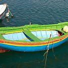 Green Maltese Boat by Maryanne Fenech-Gatt