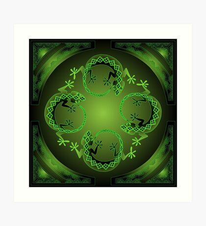 Green Gecko Art Print