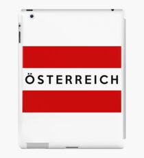 flag of austria iPad Case/Skin