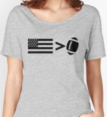 America greater than football Women's Relaxed Fit T-Shirt
