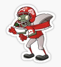 Football Zombie from Plants vs Zombies Sticker