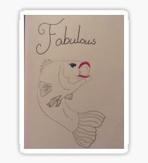 Fabulous Fish Sticker
