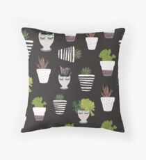 Moody Botanicals Throw Pillow