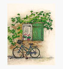 French Countryside, The Bicycle Fotodruck