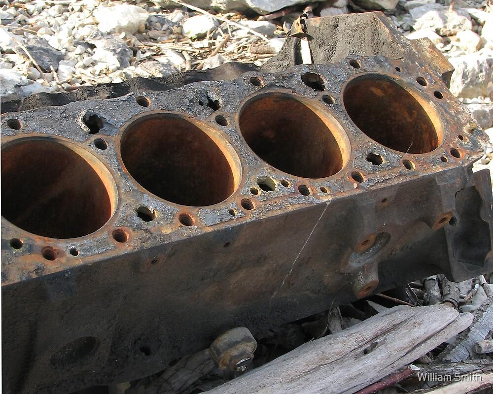 rusty engine block by William Smith