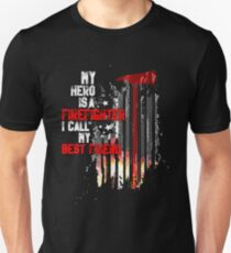 Support For A Firefighter Best Friend Gift T-Shirt