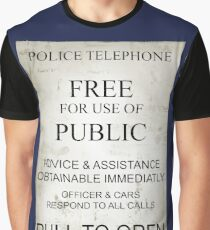 Police Box Sign Graphic T-Shirt