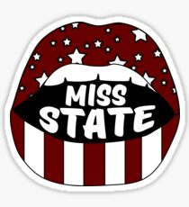 Miss State Lips Sticker
