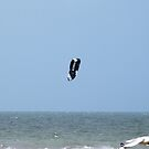 Surf Kite, the surfer & Seagull just passing by! by Rita Blom