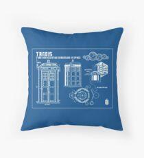 T.A.R.D.I.S. Blueprint Throw Pillow