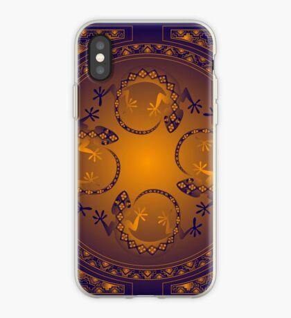 Orange Gecko iPhone Case