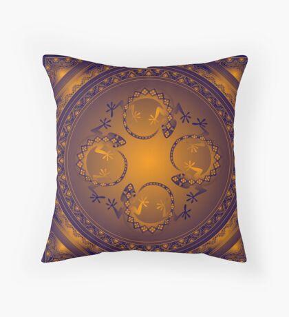 Orange Gecko Throw Pillow
