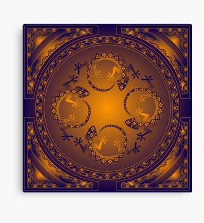 Orange Gecko Canvas Print
