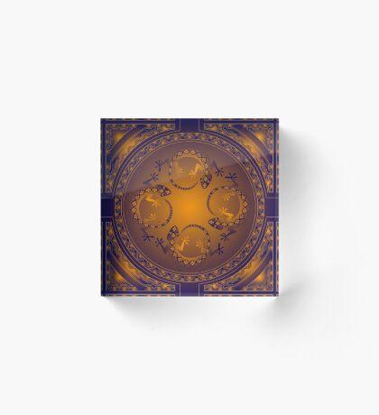 Orange Gecko Acrylic Block