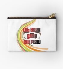 Geek Chi with Glasses Zipper Pouch