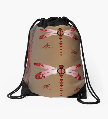 Dragonfly Drawstring Bag