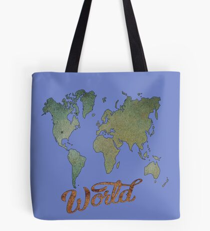 Blue Waters of the Marlborough Sounds /World Map (4091 Views) Tote Bag