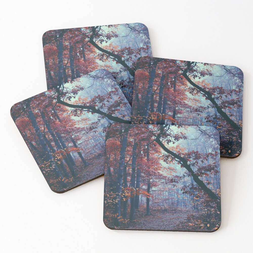 Haunted Autumn  Coasters (Set of 4)