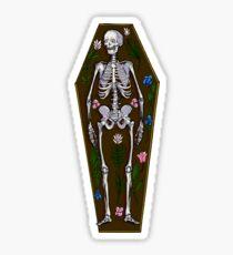 Skeleton Coffin Sticker