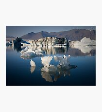 Floating Ice Sculptures (Jökulsárlón - Iceland) Photographic Print