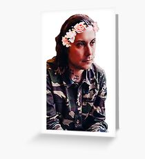 Flower Crown Frank (Crop) Greeting Card