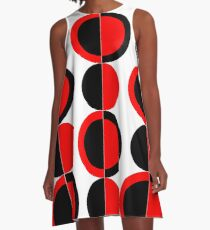 Mod Circles A-Line Dress