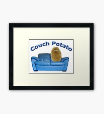 Couch Potato Character Framed Print