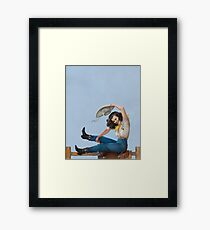 Wild West Series Riding High Cowgirl Framed Print