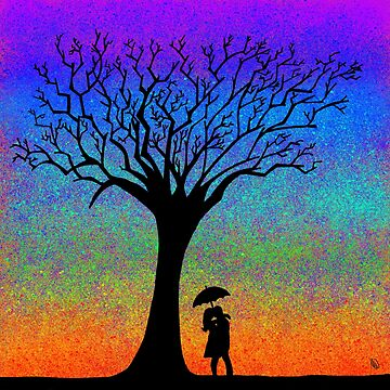 Rainbow Tree Silhouette by W1nt3rs
