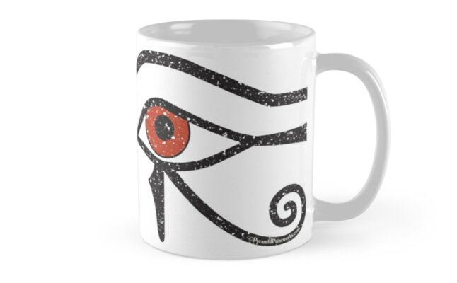 Eye of Horus Ancient Egyptian Symbol of Protection Mug on White by PyramidPrintWrx