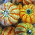 Colorful Pumpkins by Lois  Bryan