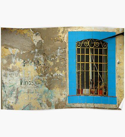 Window, Barcelona, Spain Poster