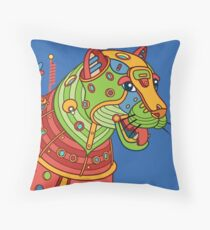 Jaguar, from the AlphaPod collection Throw Pillow
