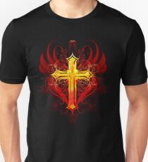 Cross painted with paint Unisex T-Shirt