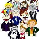 Eleven Doctors Muppet Style by Qooze