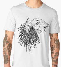 Three-eyed Raven and Wolf Men's Premium T-Shirt
