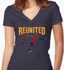 Reunited 2 Women's Fitted V-Neck T-Shirt