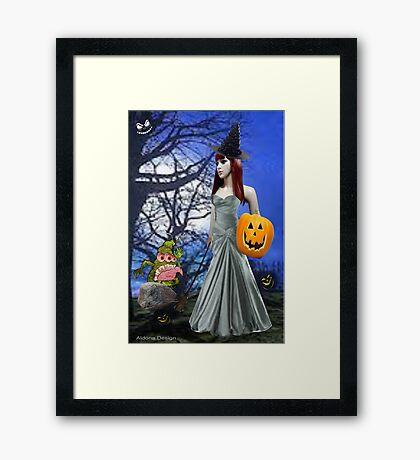 Halloween Night Tale ( 6585 Views) Framed Print