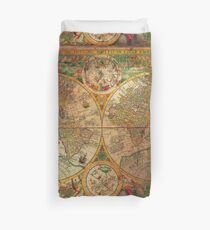 OLD WORLD globe map Duvet Cover