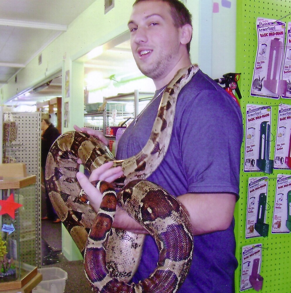 Andy with Boa by Sheri Scherbarth
