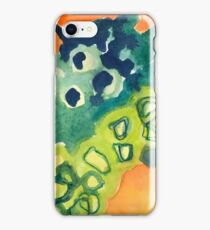 Lively Abstract Watercolor Design iPhone Case/Skin