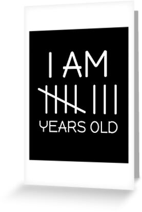 I Am 8 Years Old Tally Mark Funny Cute Birthday 8th