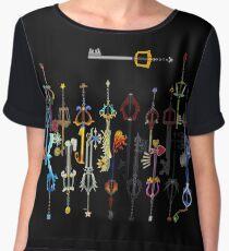 Kingdom Hearts Keyblades Chiffon Top