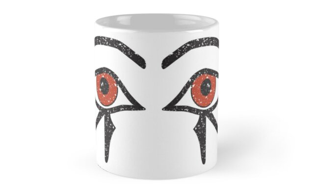 Double Eye of Horus Ancient Egyptian Symbol of Protection Mug on White by PyramidPrintWrx