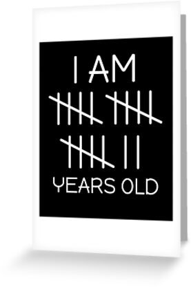 I Am 17 Years Old Tally Mark Funny Cute Birthday 17th By SpecialtyGifts